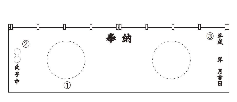 寺社幕・神社幕サンプル